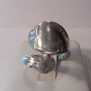 Rogers Bros Silver Plate Spoon Ring Adjustable